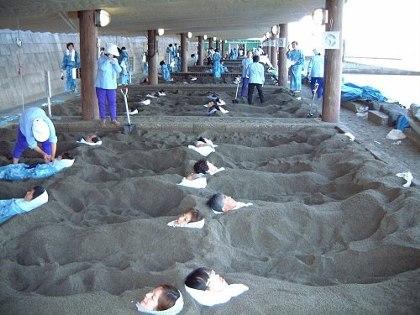 砂むし会館「砂楽~さらく~」の砂むし場